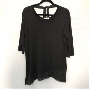 Anthropologie Pebble and Stone Asymmetrical Top